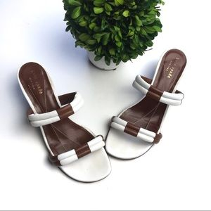 Kate Spade Wedged Sandals Leather Size 7